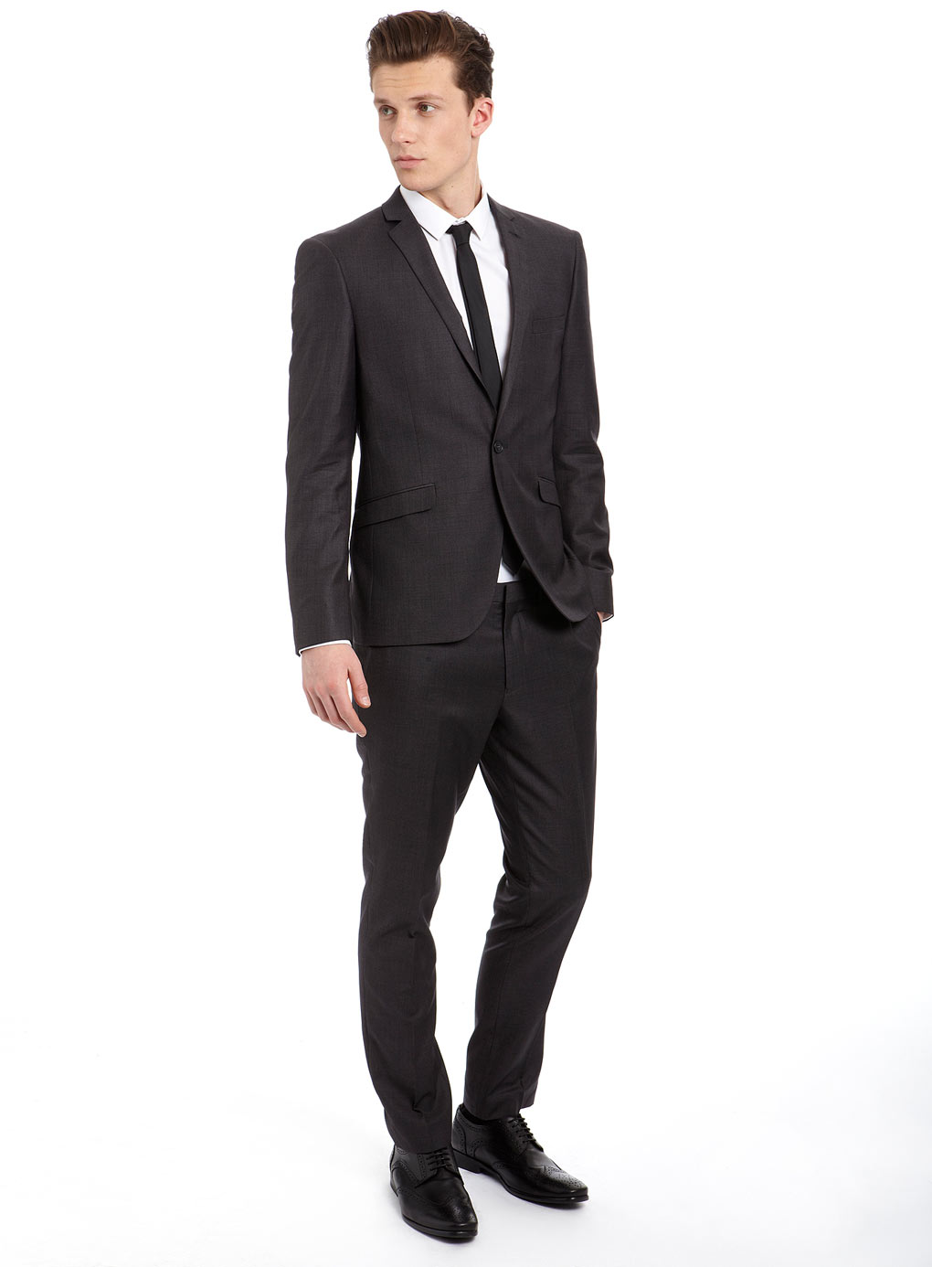 Piece Grey Skinny Fit Suit