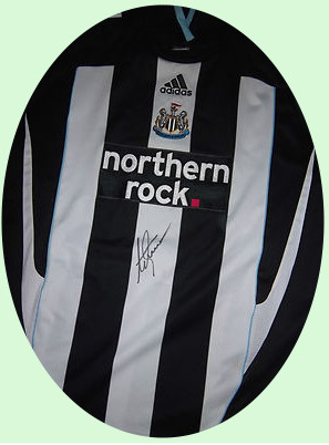 Shearer signed Newcastle Shirt