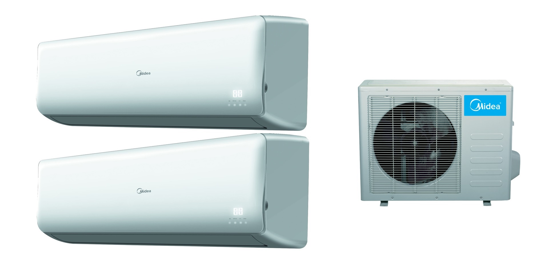 2x18000 Btu 16 Seer Multi Zone Mini Split Heat Pump Air Conditioner #0090CC