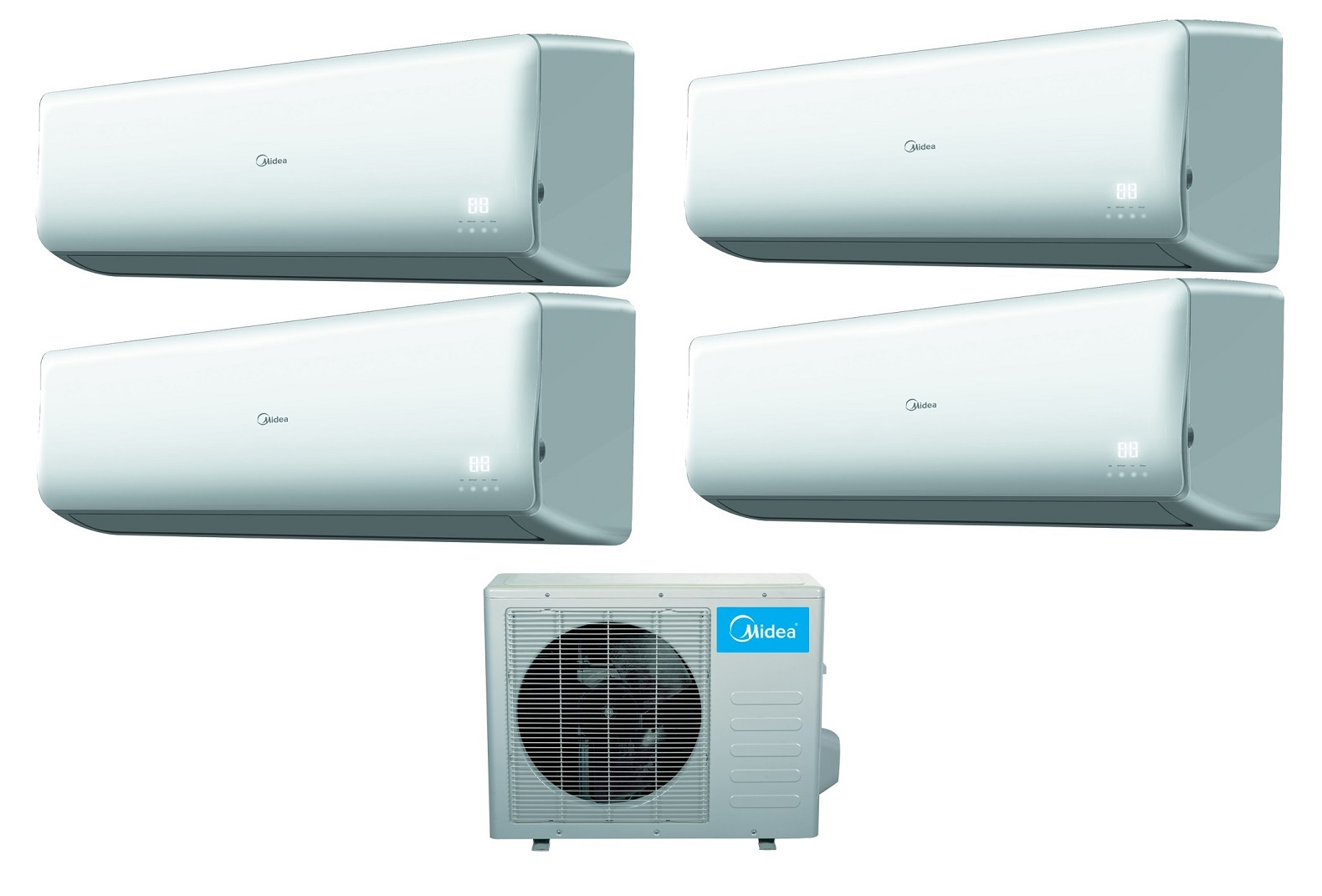 Midea 16 Seer 4 Room 4x9000btu Quad Zone Mini Split Heat Pump AC #0090CC
