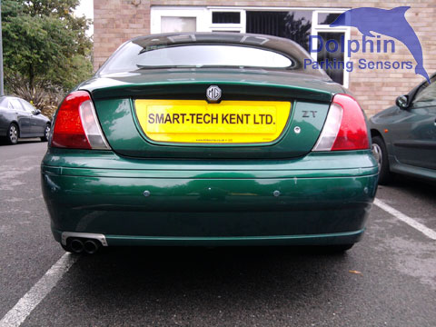 MG with green sensors fitted in to the bumper