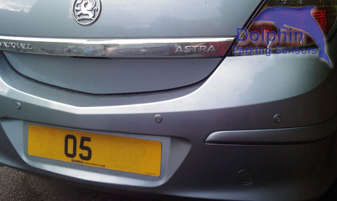 Installed in to the rear of a Vauxhall Astra