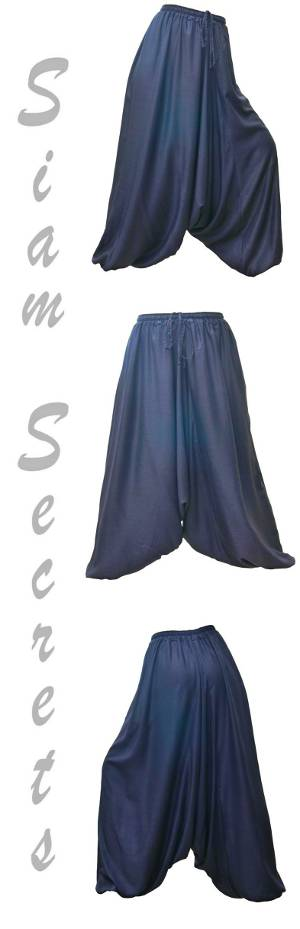 Grey Sarouel Harem Pants