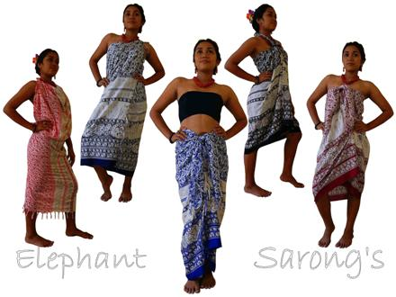 The many ways of wearing a Sarong