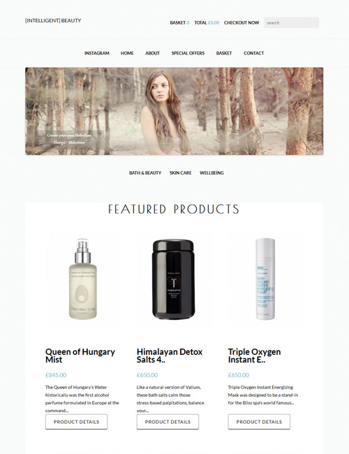 IntelligentBeauty Homepage