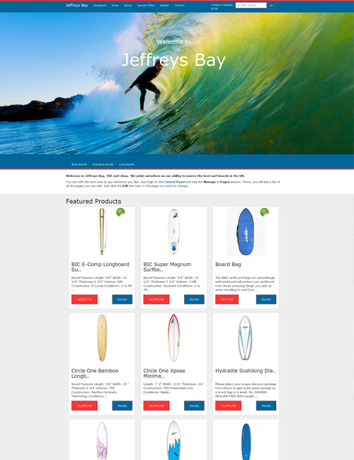 SurfShack Homepage
