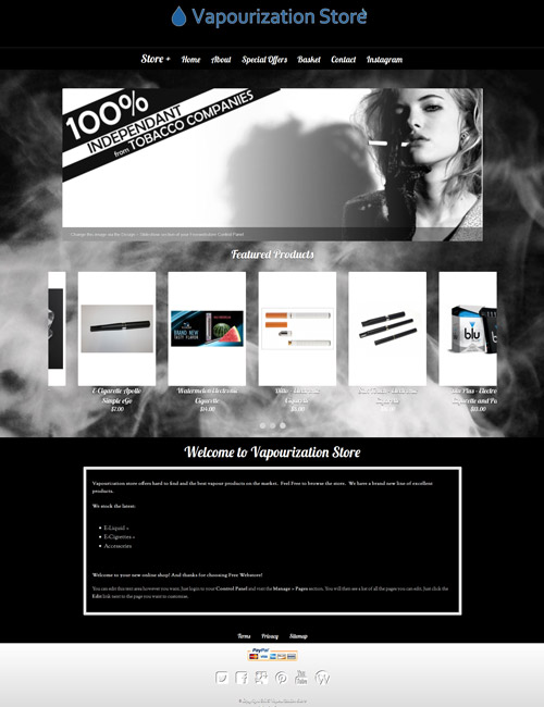 Vapour Homepage