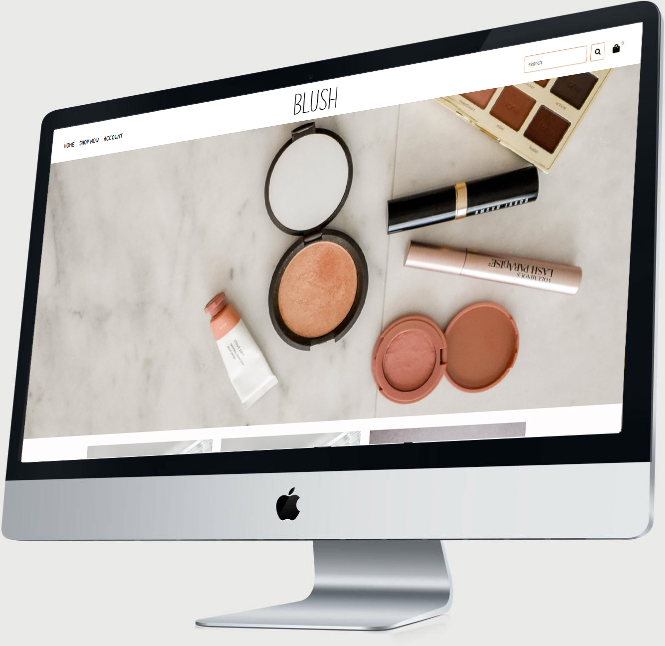 Blush Mac Display