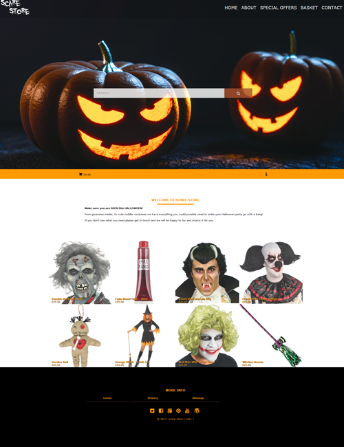 Scare Homepage