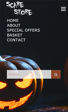 Scare Mobile Homepage