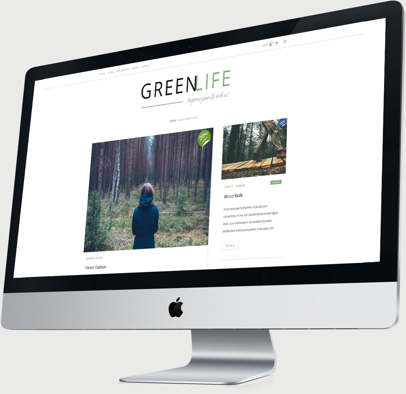 Green-Life Mac Display