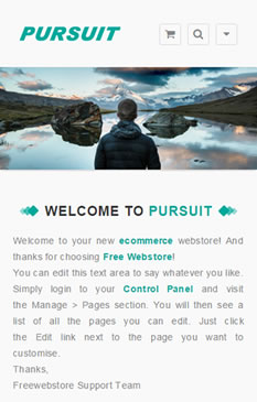Pursuit Mobile Homepage