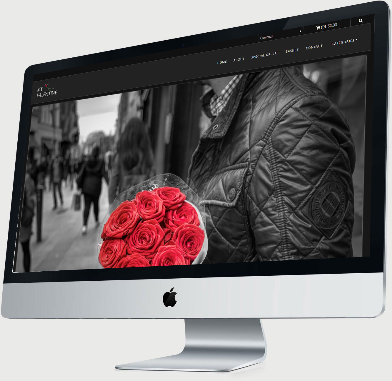 My Valentine Mac Display