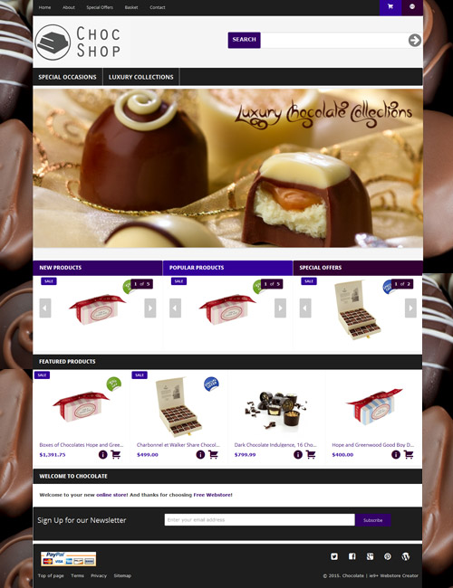 Chocolate Homepage