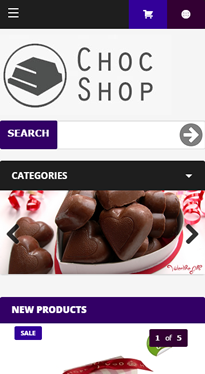 Chocolate Mobile Homepage