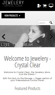 Crystal Clear Mobile Homepage