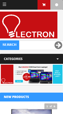 Electron Mobile Homepage