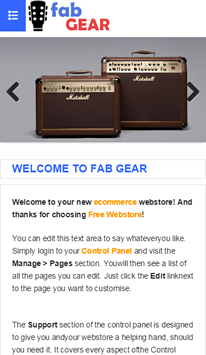 FabGear Mobile Homepage