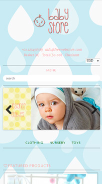 Nursery Mobile Homepage
