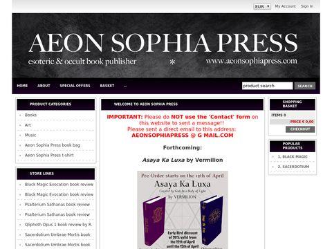 Aeon Sophia Press