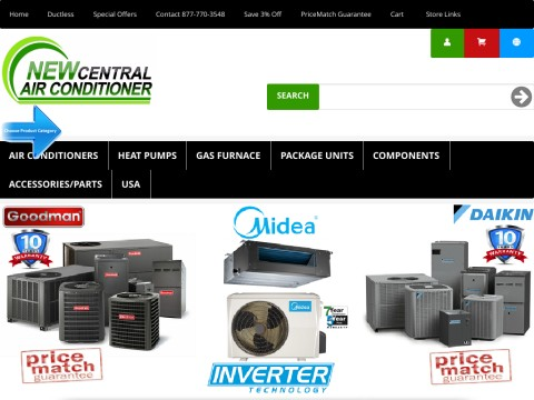 Central Air Conditioner Central Heat Pump Central Gas