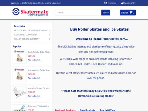 Ice & Artistic Roller Skating Equipment | Roll Line, Edea, Risport