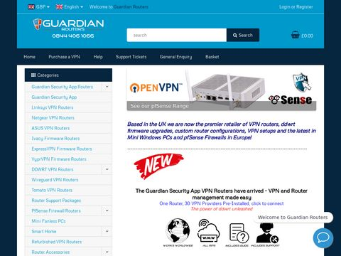 Guardian Routers, DDWRT, VPN