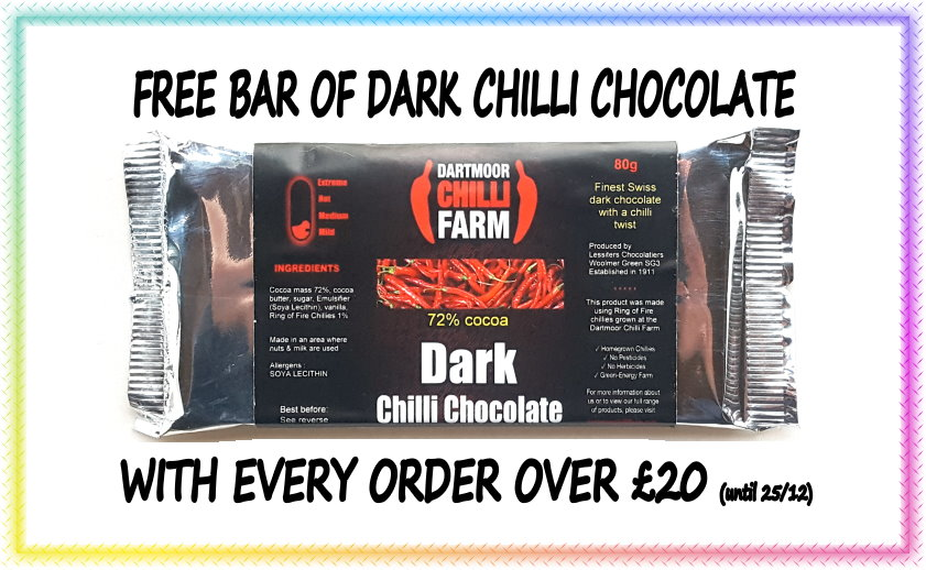 free bar of chilli chocolate offer