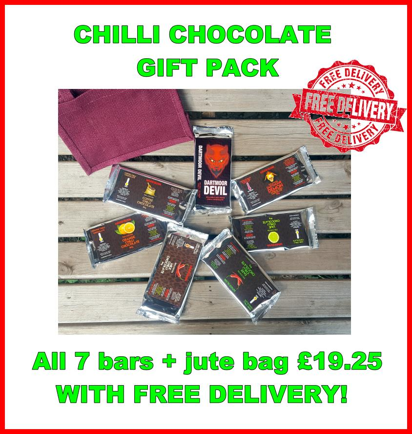 Chilli chocolate gift pack - now with free delivery