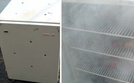 Fridge smoker from Dartmoor chilli farm