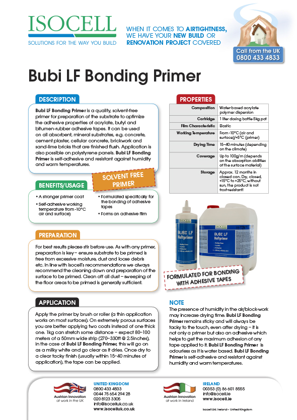 Airstop Bubi LF Primer Data Sheet