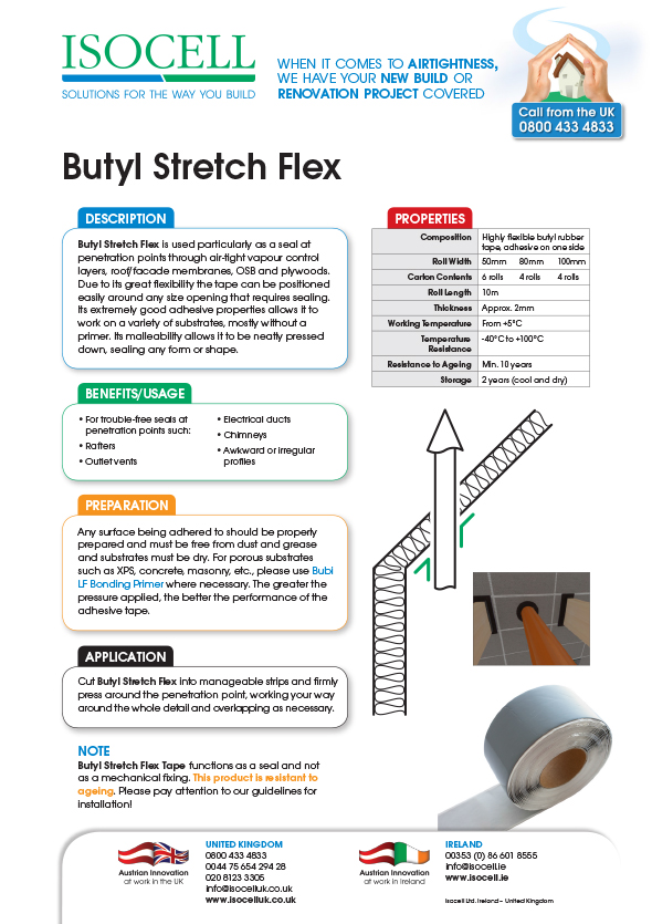 Airstop Butyl Stretch Tape