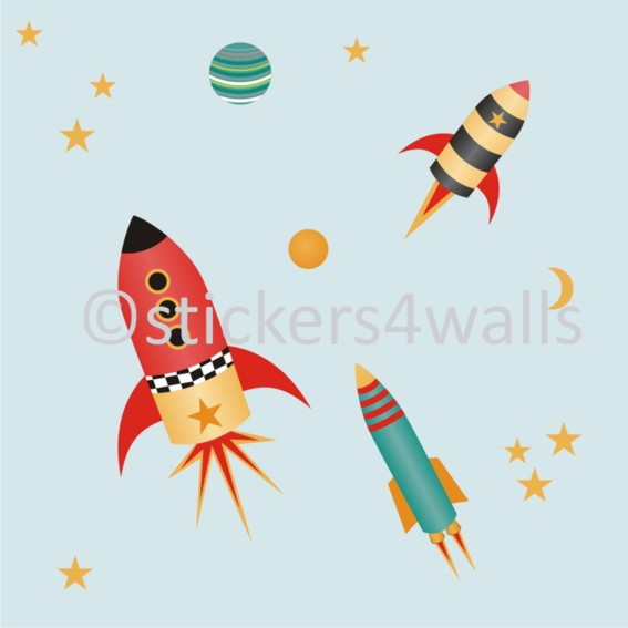 Fabristick rocket wall stickers