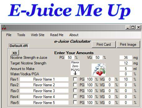Best e-juice me up calculator tutorial for e-juice diy 101.