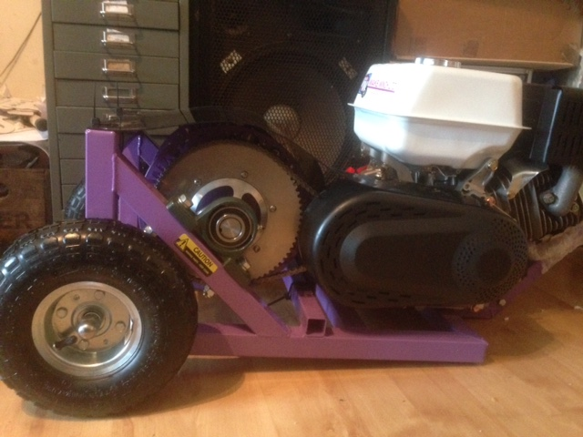 Purple wakeboarding winch 9HP