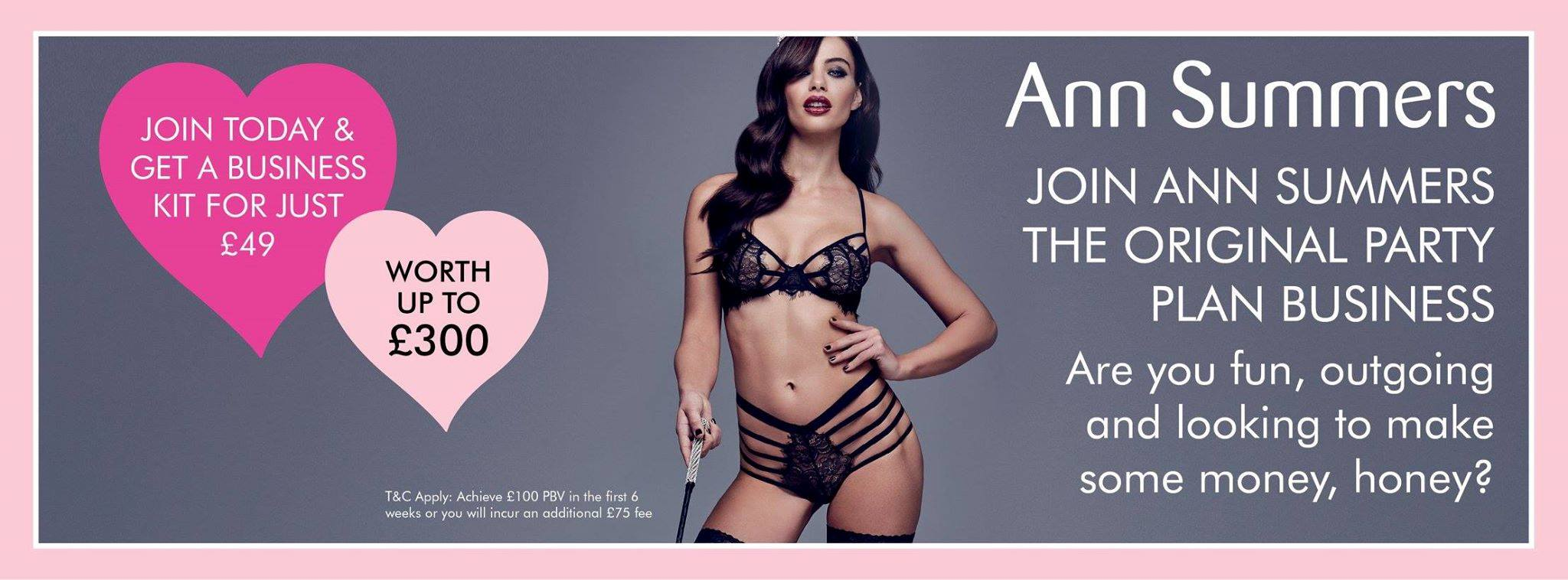 join ann summers party ambassador jobs