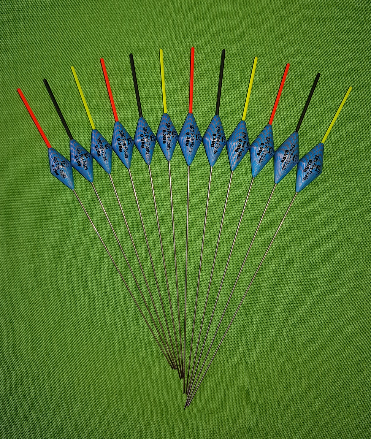 Pack 330R12 *BARGAIN* 12 x Assorted High Quality Pole Fishing Floats