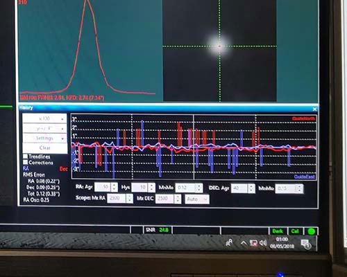 PHD Graph of Tuned EQ8 StellarDrive Mount