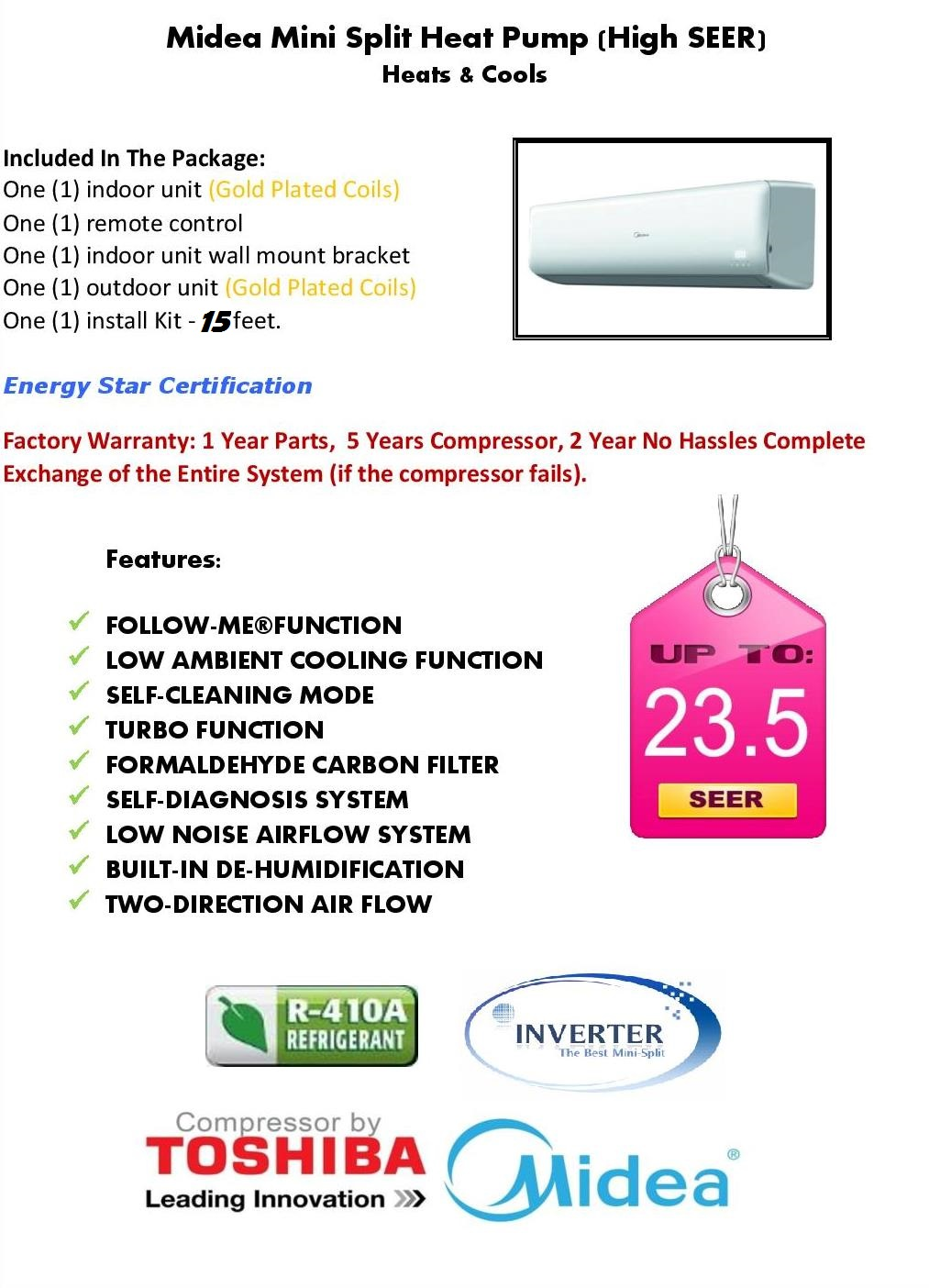 100 Ductlessaire Energy Star 18 000 How Much Does A