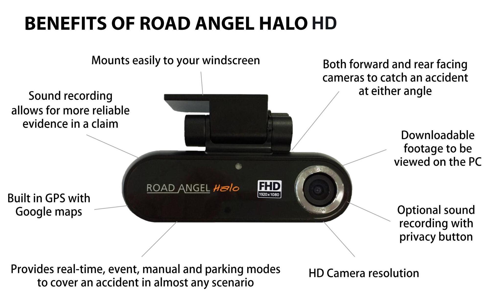 Benefits of Road Angel Halo HD