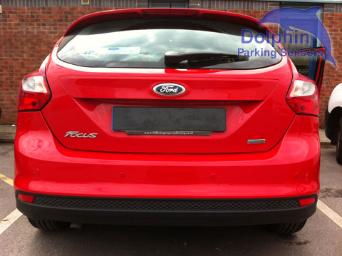 Parking Sensors fitted to Red Ford Focus