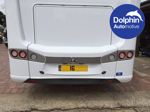 Fiat MotorHome fitted with parking sensors