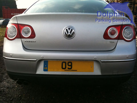 VW Passat 09 registration plate with Parking Sensors