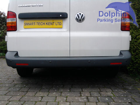 VW Transporter Van with Parking Sensors in the Bumper