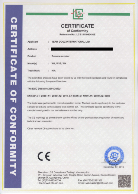 hover board safety certificates safe hover board segway ce certificate