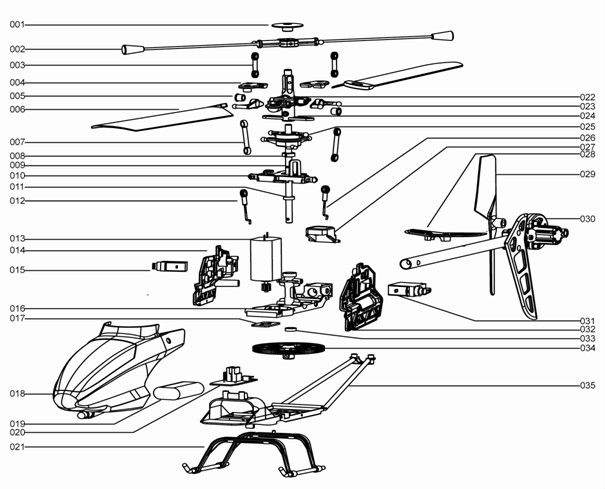 Wiring Diagram  35 Parts Of A Helicopter Diagram