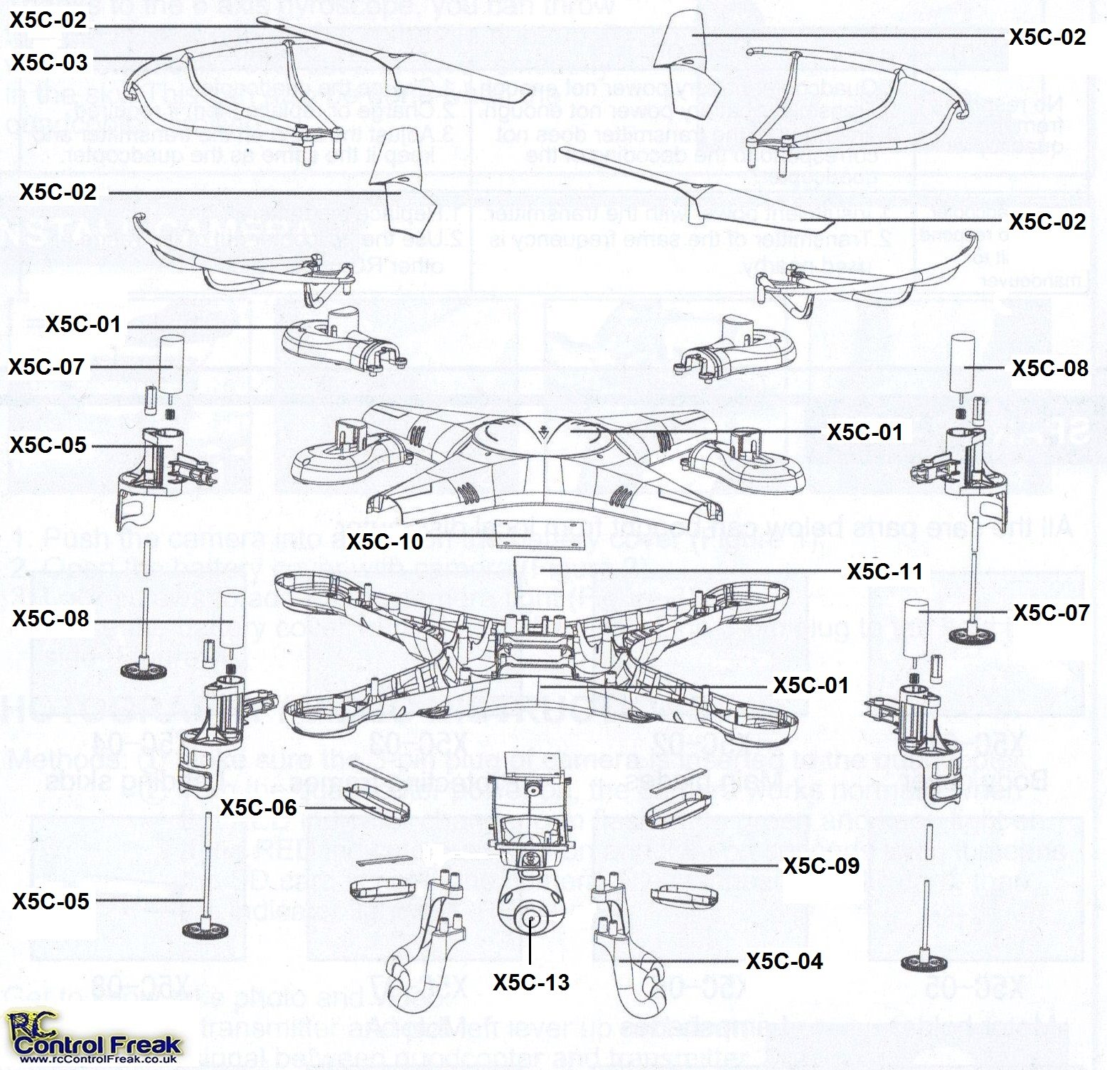 x5c_parts_diagram syma x5c spare parts list diagram S107 Helicopter Problems at gsmx.co
