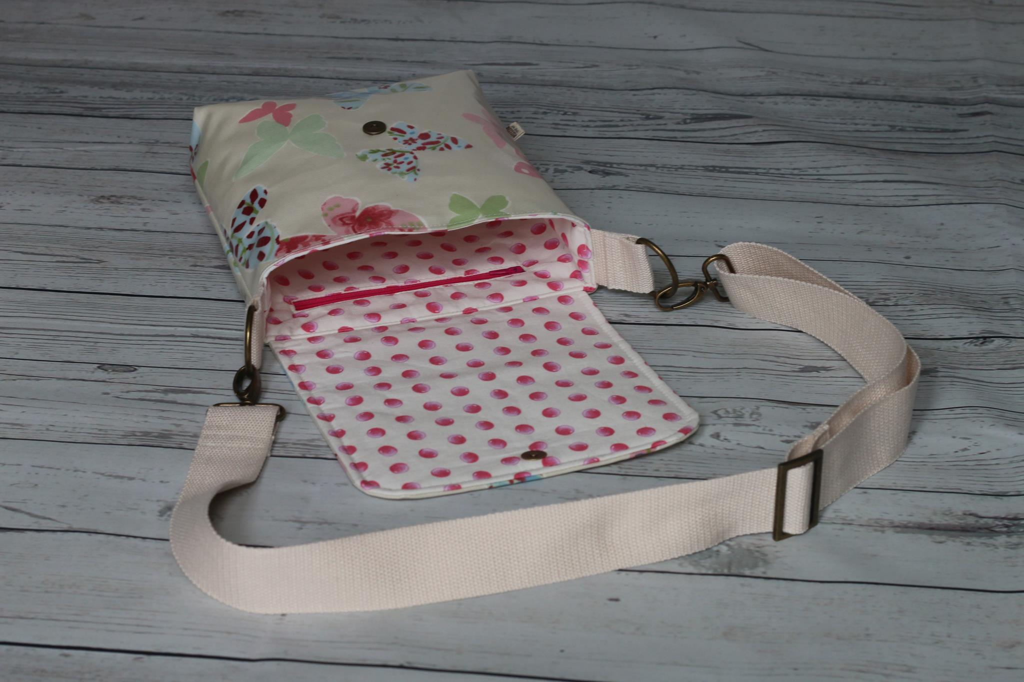 Butterfly Oil Cloth Bag