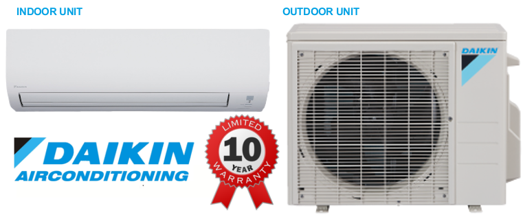 daikin 12000 btu 19 seer mini split 19 series air conditioner. Black Bedroom Furniture Sets. Home Design Ideas