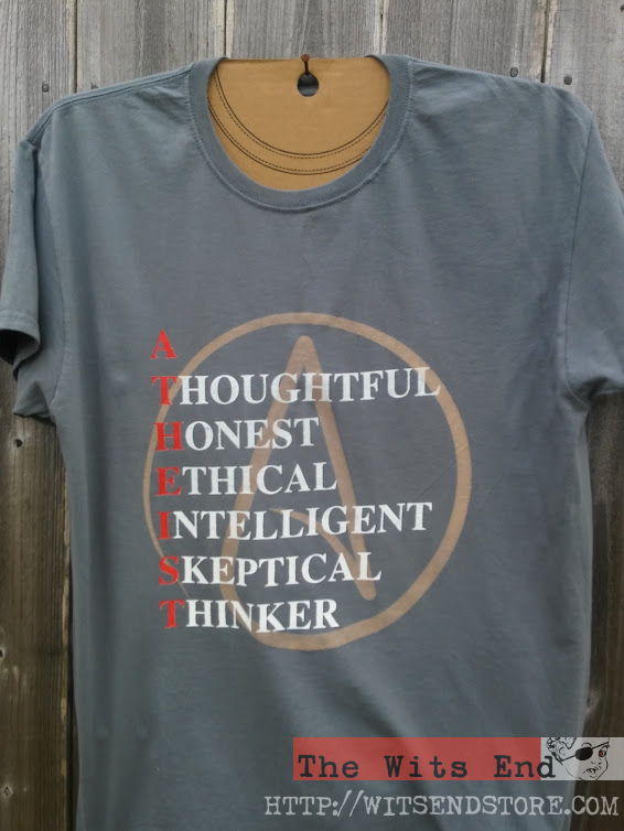 A-T-H-E-I-S-T example tee shirt